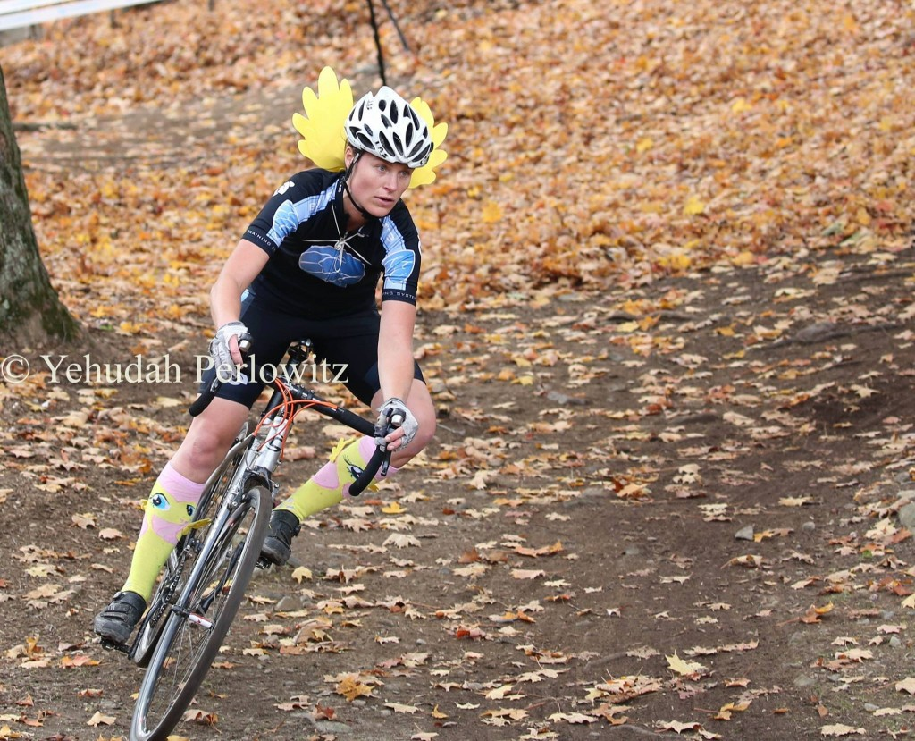 Kristine Contento-Angell with wings at bubble cx